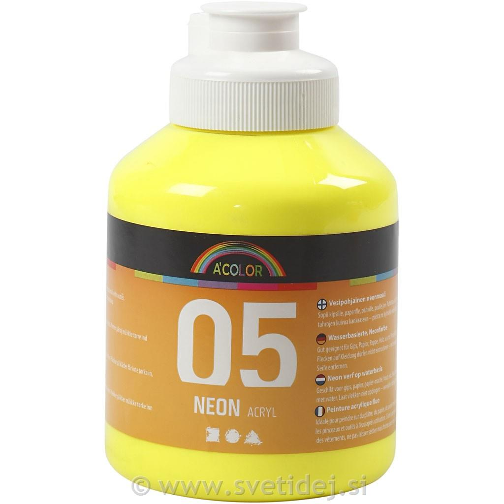A-Color neon rumena, 500 ml