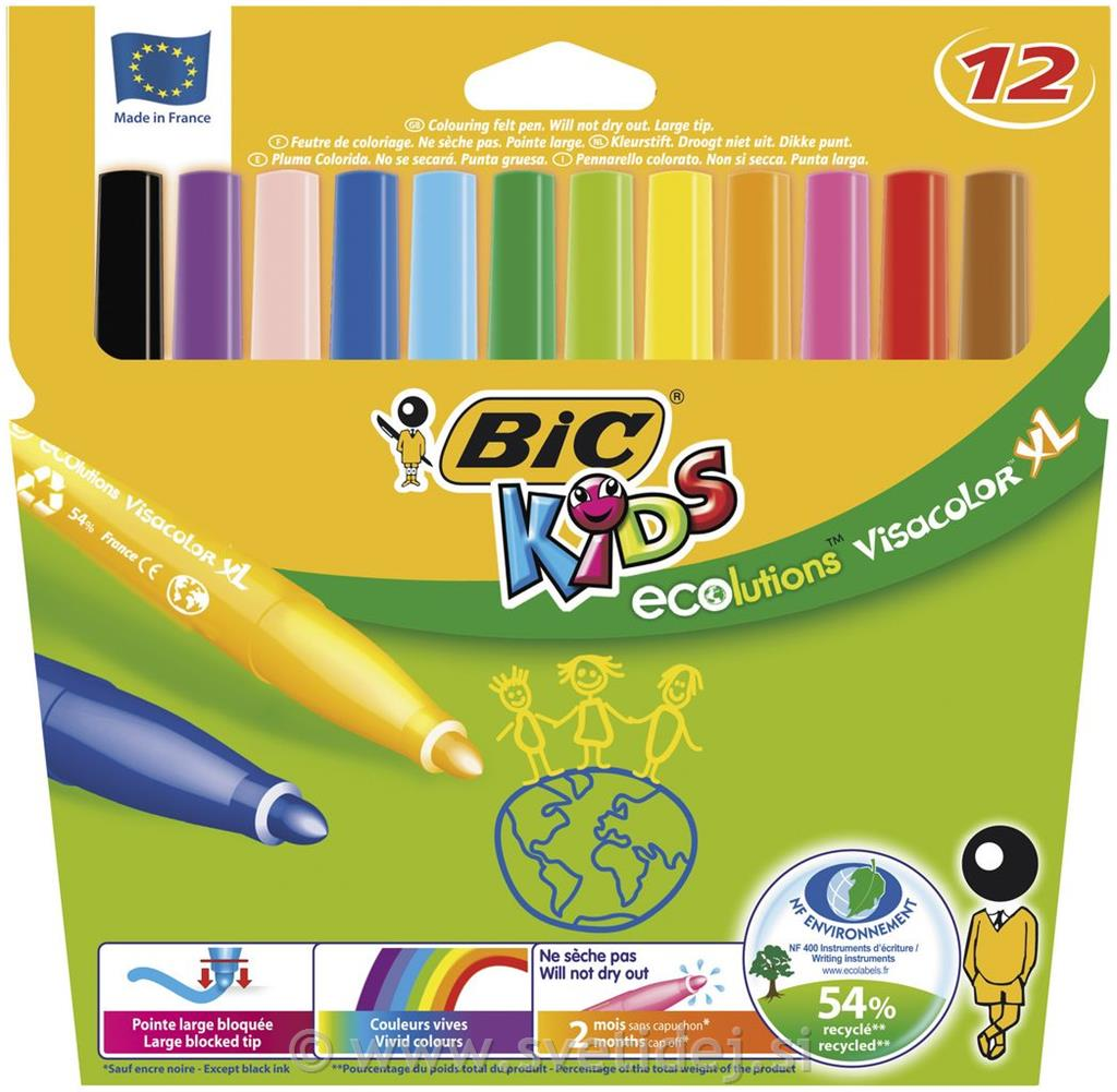 Visa Color Marker, konica 3 mm, set 12