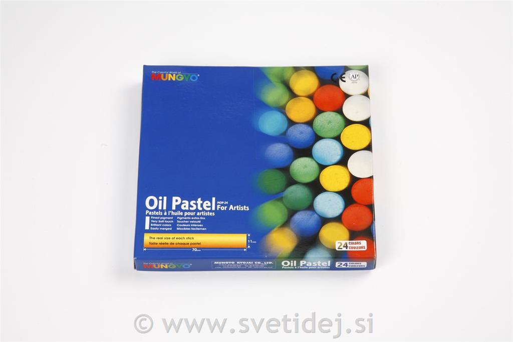 Oljni pasteli, 11 mm, set 24